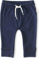 Little Label - baby - broekje - donkerblauw - maat 74 - bio-katoen
