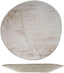 Beige Cosy&Trendy Cosy en Trendy Lithos Bord Wave in Aardewerk - 34x33.5xh3.5cm (set van 6) En Yourkitchen E-kookboek - Heerlijke Smulrecepten
