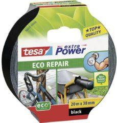 Tesa 56432 56432-00 Textieltape tesa Extra Power ECOLOGO Zwart (l x b) 20 m x 38 mm 1 rol/rollen