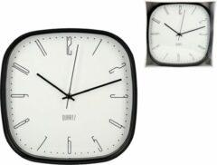 Gerimport Retro Wandklok Model Dennis – Diameter 29.50cm – Klok – Zwart