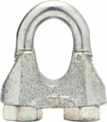 PasschierTerpo 100 stuks Staaldraadklem Kabelklem - 8 mm - Gegalvaniseerd