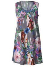Kleid mit Blumen-Print Sara Lindholm Multicolor
