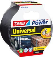 Tesa tesa Extra Power Textieltape Zwart (l x b) 10 m x 50 mm Rubber Inhoud: 1 rollen
