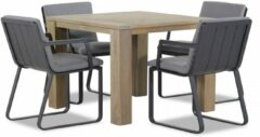 Antraciet-grijze Lifestyle Garden Furniture Lifestyle Estancia/Brighton 100 cm dining tuinset 5-delig