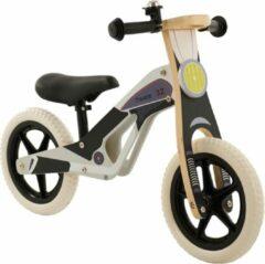 2Cycle Motor Loopfiets - Hout - Zwart-Grijs