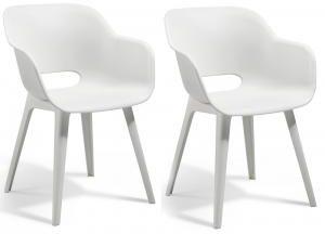 Witte Kunststof Design Stoelen.Witte Allibert Akola Eettafel Stoel Kunststof 2 Stuks Wit
