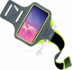 Groene Mobiparts Comfort Fit Sport Armband Samsung Galaxy S10e Neon Green