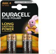 Klusgereedschapshop Duracell Batterij potlood 1.5v lr03 aaa blister van 4 batterijen