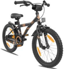 Zwarte PROMETHEUS BICYCLES® Hawk Fiets 18´´, matzwart-oranje