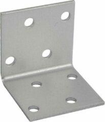 GeZu Impex ® Hoekverbinder / verbindingshoeken staal verzinkt - 40x40x40x 2 mm Versterkingshoeken/ hoekijzers voor balkverbinding / houtverbinding / Hoekverbinders