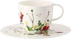 Witte ROSENTHAL - Brillance Fleurs Sauvages - Schotel 4 hoog