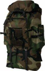 SJ interiors Grote Backpack Rugzak Camouflage 100L (INCL Toiletbril doekjes) - Militaire leger tas - Plunjezak - Sporttas - Plunje rugzak