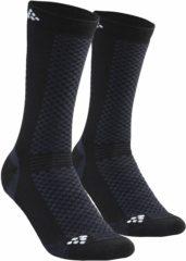 Merkloos / Sans marque Craft Mid Socks (2-pack) Wintersportsokken - Maat 34-36 - Unisex - zwart
