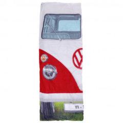 VW Collection - VW T1 Bus Einzelschlafsack - Synthetische slaapzak maat 180 x 75 cm, grijs/rood
