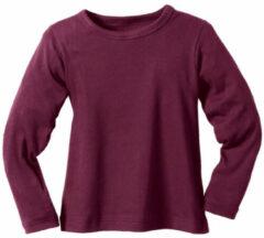 Rode Minibär Ribbelshirt, bessenrood 134/140