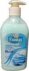 S'nonas - Vloeibare handzeep - Blue Fresh Gezonde Huid - 6 x 500 ml - Voordeelset