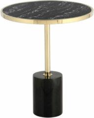 Kayoom Bijzettafel 'Lana' kleur zwart / goud, 46cm