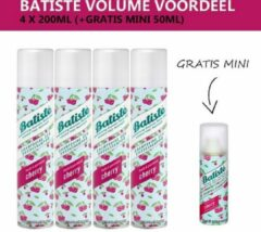 Batiste Droogshampoo Cherry - Volumevoordeel - 4 x 200ml - Gratis Mini 50ml