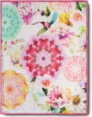 Roze Plaid 130x160 polyester HIP nr.6456 multi Maat: 130x160cm