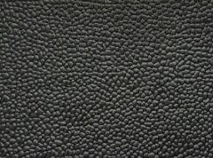Zwarte Ikado Rubberen loper op maat met korrelmotief, 3mm - 140 x 200 cm