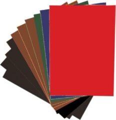 Rode Quantore Grote vellen XL Knutselkarton - Surprisekarton - Hobbykarton - Fotokarton - 50x70 cm - 10 grote gekleurde vellen - Gratis Verzonden
