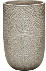 Ter Steege Hoge Pot Marly Cream ronde beige bloempot voor binnen en buiten 47x70 cm