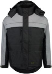 Grijze Tricorp Parka Cordura - Workwear - 402003 - zwart / grijs - Maat XL