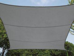 Antraciet-grijze Merkloos / Sans marque SCHADUWDOEK - WATERDOORLATEND ZONNEZEIL - VIERKANT - 3.6 x 3.6 m - KLEUR: ANTRACIET