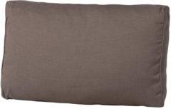 Taupe Madison loungekussen luxe rug 73x40cm - Laagste prijsgarantie!