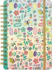Roze Moses Notitieboekje Bloemen Meisjes 15 X 21 Cm Papier