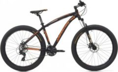 Cicli Cinzia 27.5+ Cinzia Sleek Plus 300 Mountainbike Aluminium 21 Gang 3 Zoll... schwarz-orange, 39 cm