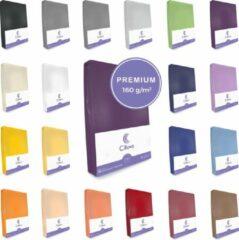 Cillows Premium Jersey Hoeslaken voor Matras - 140x200 - 160x220 cm - (tot 25 cm hoogte) – Paars