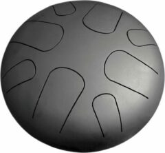 Zwarte LIDAH® Steel Tongue Drum - A-mineur Constellation Series (28 cm) – Handpan - Lotus Drum – Klankschaal – Meditatie - Yoga