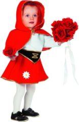 Rode Feestbeest.nl Rood jurkje met cape (baby)