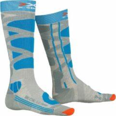 X-socks Skisokken Control Polyamide Grijs/turquoise Mt 41-42