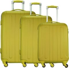 Beige Fabrizio Hartschalentrolley Set mit 4 Rollen (3-tlg), »Colour Flow«