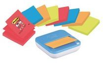 Post-it Z-Notes Dispenser gratis bij 8 x Post-it Super Sticky Z-Notes Neon. Afmetingen: 76 x 76 mm Inhoud: 8 x 90 Vel