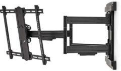 Zwarte Nedis premium muurbeugel voor schermen tot 80 inch / full motion (3 draaipunten)
