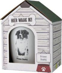 Witte Paper dreams Mok – Friese Stabij – Dier – Puppy – Hond – Dieren – Mokken en bekers – Keramiek – Mokken - Porselein - Honden – Cadeau - Kado
