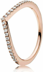 Pandora 186316CZ Ring Shimmering Wish zilver rosékleurig Maat 56