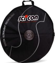 Zwarte Scicon tas voor 1 fietswiel - Zachte fietsreistassen