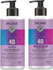 Inoar Keratine Inoar 4 D Shampoo & Conditioner 400 ML