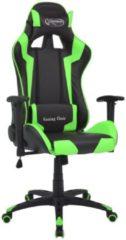 VidaXL Sedia da Ufficio Racing Reclinabile in Pelle Sintetica Verde