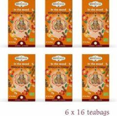 "Kruidenthee - BIO -Shoti Maa Chakras ""In The Mood-Je Ressens"" Hibiscus Sinaasappel BIO (6 doosjes thee)"