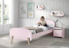 Rosa VIPACK FURNITURE Vipack Kinderbett inkl. Lattenrost, MDF-Oberfläche