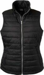 James nicholson james and nicholson vrouwen dames waterafstotend gewatteerd vest zwart