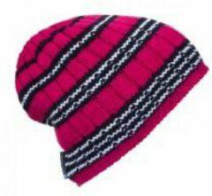 Donkerrode Ortovox Beanie Rock N Woool Stripe / Very Berry Unisex