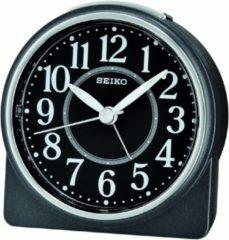 Seiko wekker - QHE137K - zwarte kunststof kast