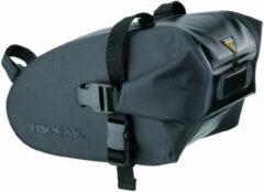 Zwarte Topeak Wedge Drybag zadeltas met band (L) - Zadeltassen