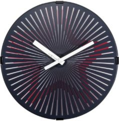 NeXtime Motion Star - klok - Rond - Kunststof - Bewegende wijzerplaat - Ø 30.5 cm - Rood/Wit